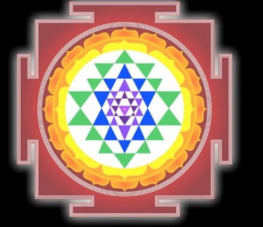 Sri Yantra Support de Méditation